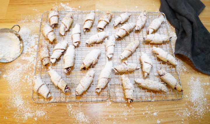 Jam Filled Rugelach (Rogaliki) Cookies (VIDEO)
