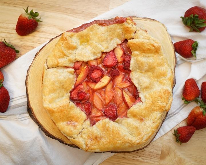 Strawberry & NectarineGalette